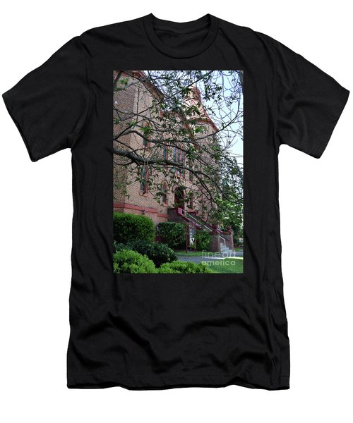 Men's T-Shirt (Slim Fit) featuring the photograph Sidney Park Cme Church by Skip Willits