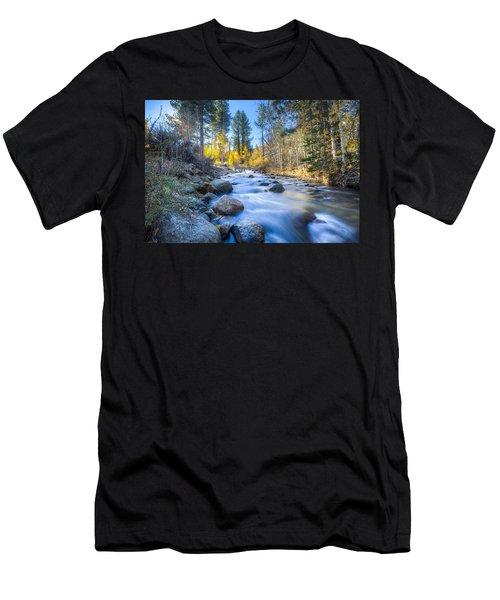 Sierra Mountain Stream Men's T-Shirt (Athletic Fit)