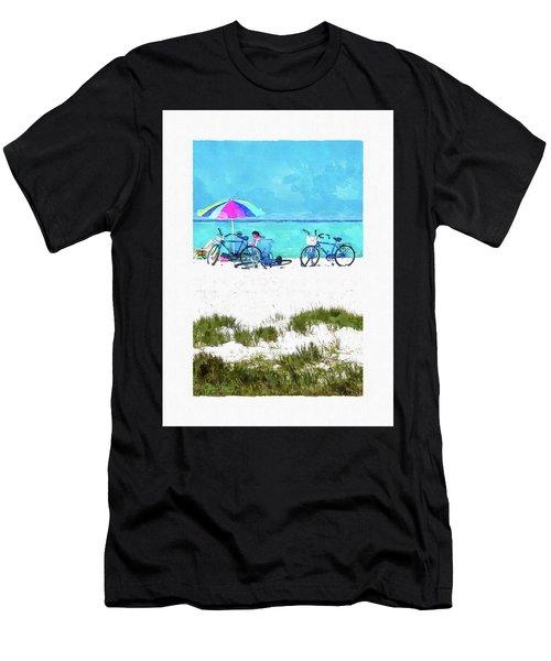 Siesta Key Beach Bikes Men's T-Shirt (Athletic Fit)