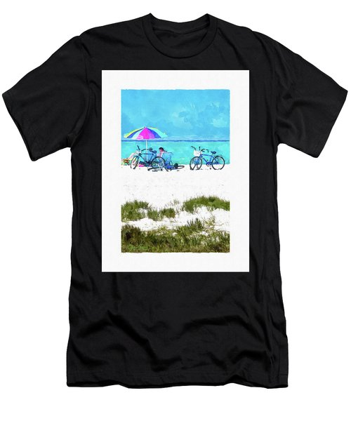 Siesta Key Beach Bikes Men's T-Shirt (Athletic Fit)