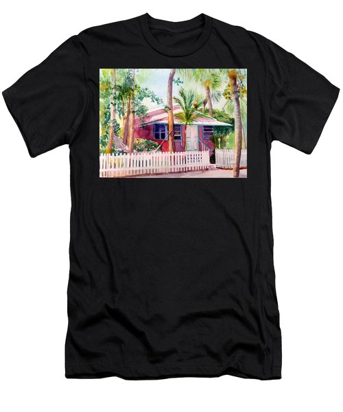 Siesta Key Cottage Men's T-Shirt (Athletic Fit)