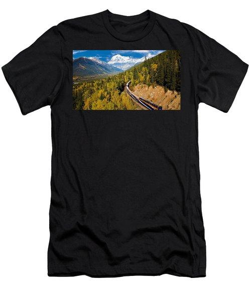 Sightseeing Thru Canadian Rockies Men's T-Shirt (Athletic Fit)
