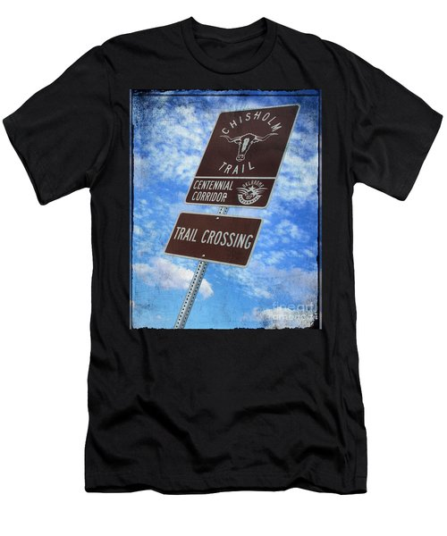 Sign On The Trail Men's T-Shirt (Athletic Fit)