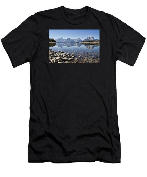 Jackson Lake  Near Signal Mountain Lodge Men's T-Shirt (Athletic Fit)