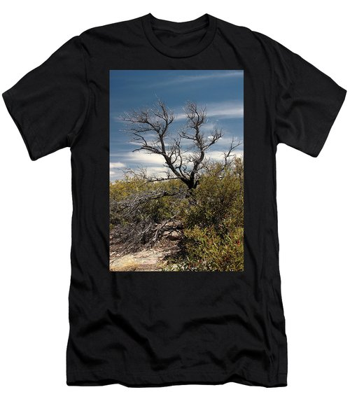 Men's T-Shirt (Slim Fit) featuring the photograph Signs Of Life After The Fire by Joe Kozlowski