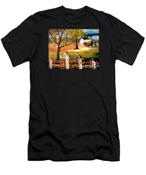 Men's T-Shirt (Athletic Fit) featuring the painting Signs Of Spring by Denise Tomasura