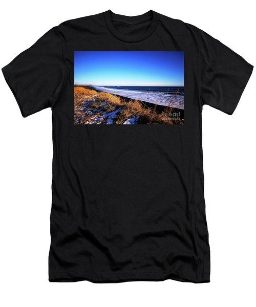 Silence At Black Sand Beach Men's T-Shirt (Athletic Fit)