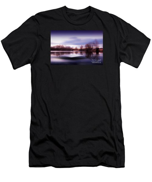Silence Lake  Men's T-Shirt (Athletic Fit)