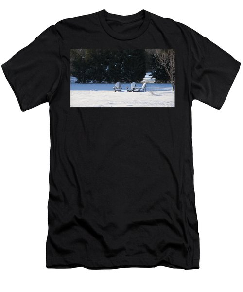 Men's T-Shirt (Slim Fit) featuring the photograph Silent Conversation by Charles Kraus