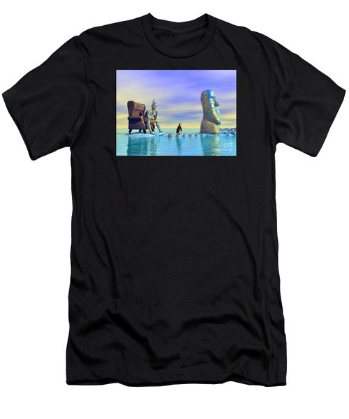Silent Mind - Surrealism Men's T-Shirt (Athletic Fit)