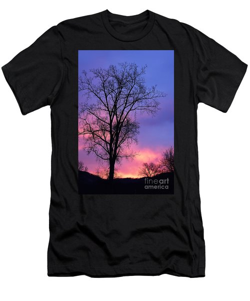 Men's T-Shirt (Slim Fit) featuring the photograph Silhouette At Dawn by Larry Ricker