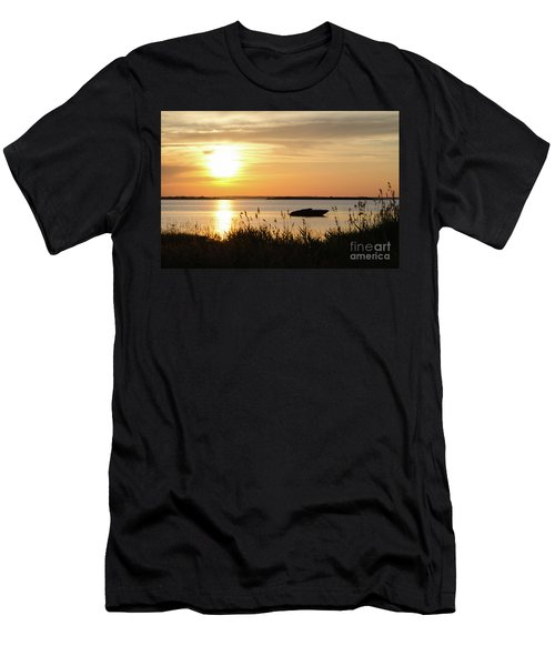 Men's T-Shirt (Athletic Fit) featuring the photograph Silhouette By Sunset by Kennerth and Birgitta Kullman