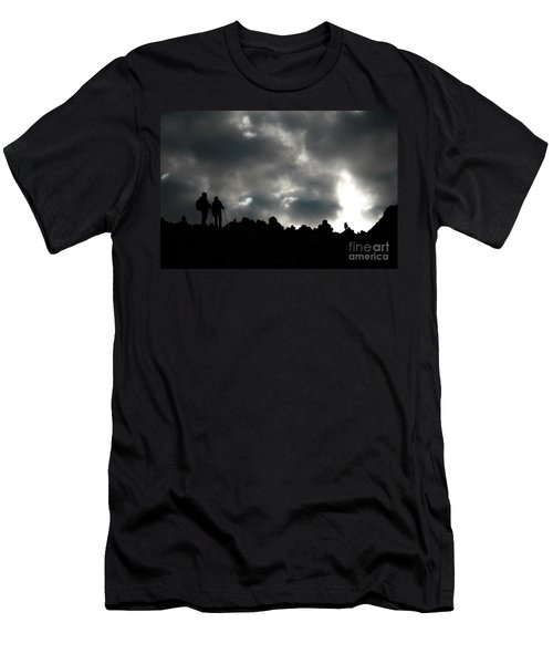 Silhouette Of Man On The Pass Himalayas Yantra.lv Men's T-Shirt (Athletic Fit)
