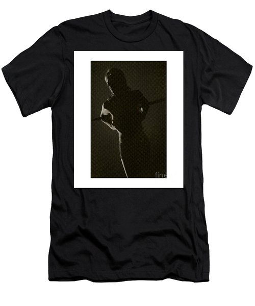 Silhouette Of Topless Girl Men's T-Shirt (Slim Fit) by Michael Edwards