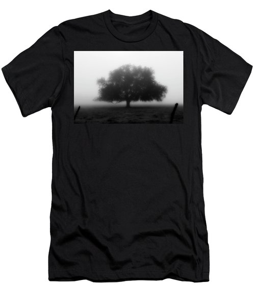 Silhouette Of Tree In Field Men's T-Shirt (Athletic Fit)