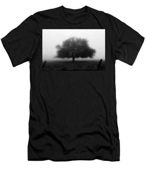 Men's T-Shirt (Athletic Fit) featuring the photograph Silhouette Of Tree In Field by Dan Friend