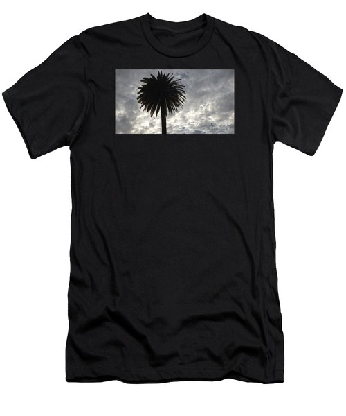 Men's T-Shirt (Slim Fit) featuring the photograph Silhouette Solo Palm  by Nora Boghossian