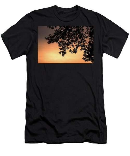 Silhouette Tree In The Dawn Sky Men's T-Shirt (Athletic Fit)