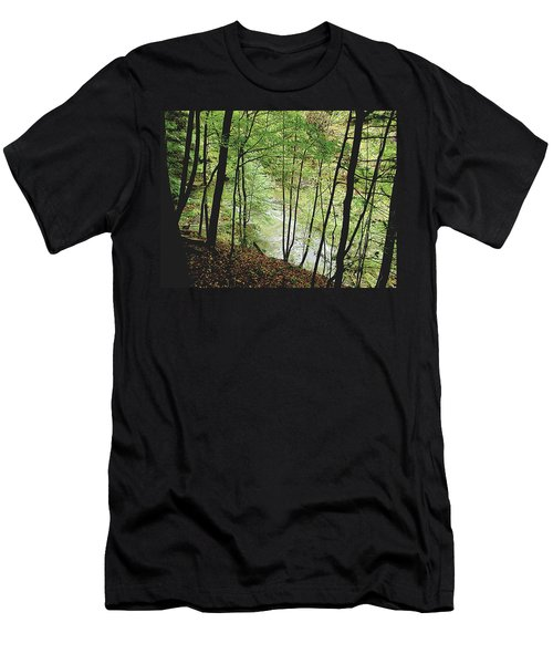 Silhouetted Trees Men's T-Shirt (Athletic Fit)