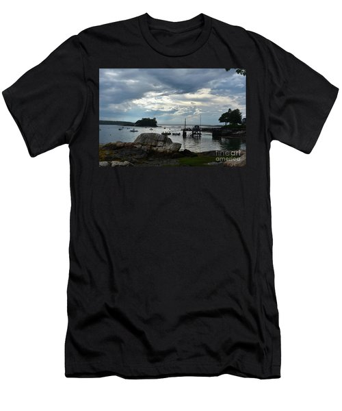 Silhouetted Views From Bustin's Island In Maine Men's T-Shirt (Slim Fit) by DejaVu Designs