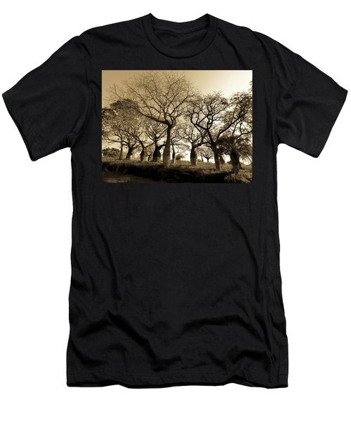 Silk Floss Trees In Sepia Men's T-Shirt (Athletic Fit)