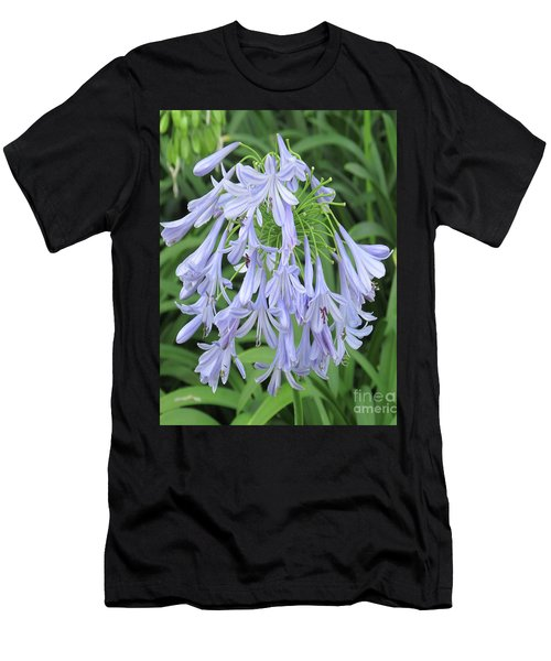 Silky Blue Blossoms Men's T-Shirt (Athletic Fit)