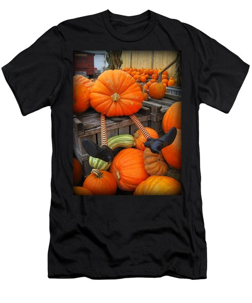 Silly Pumpkin Men's T-Shirt (Athletic Fit)