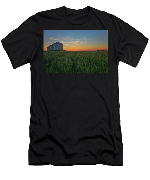 Silos At Sunset Men's T-Shirt (Athletic Fit)