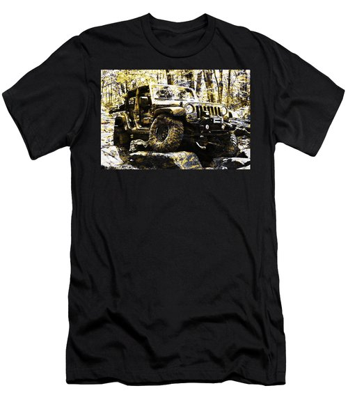 Silver And Gold Jeep Wrangler Jku Men's T-Shirt (Athletic Fit)