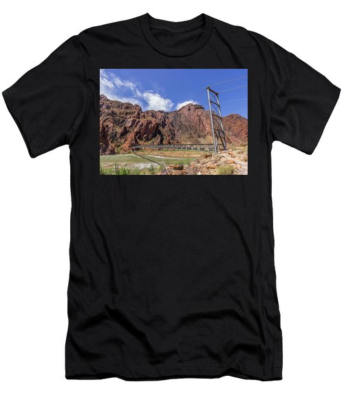 Silver Bridge Over Colorado River - At The Bright Angel Trail Men's T-Shirt (Athletic Fit)