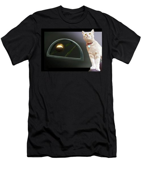 Cat, Silver And Gold  Brooch Men's T-Shirt (Athletic Fit)