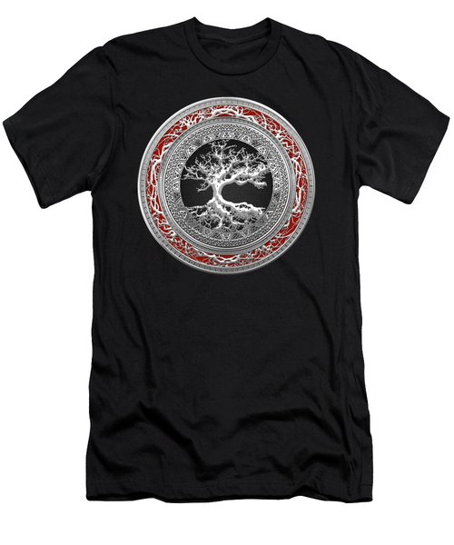 Silver Celtic Tree Of Life Men's T-Shirt (Athletic Fit)