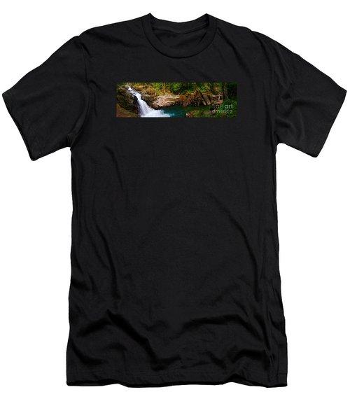 Silver Falls Panorama Men's T-Shirt (Athletic Fit)