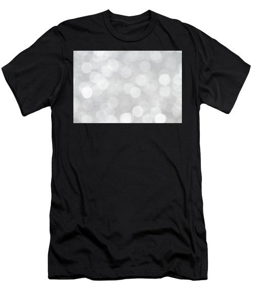 Silver Grey Bokeh Abstract Men's T-Shirt (Athletic Fit)
