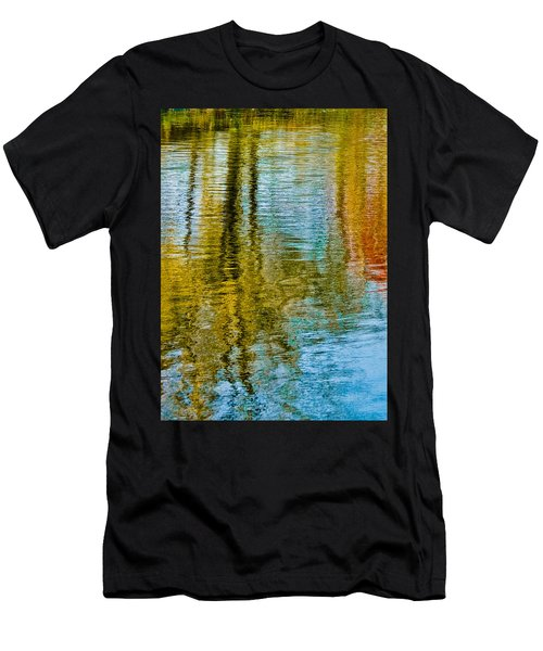 Silver Lake Autum Tree Reflections Men's T-Shirt (Athletic Fit)