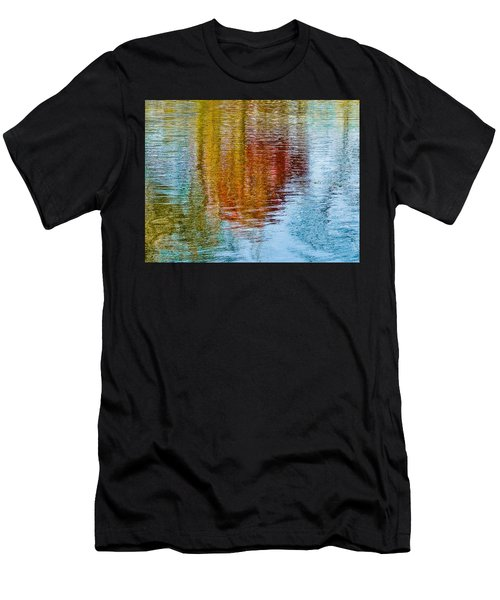 Silver Lake Autumn Reflections Men's T-Shirt (Athletic Fit)