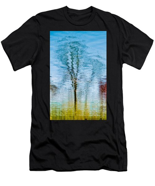 Silver Lake Tree Reflection Men's T-Shirt (Athletic Fit)