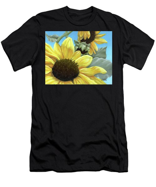 Silver Leaf Sunflower Growing To The Sun Men's T-Shirt (Athletic Fit)