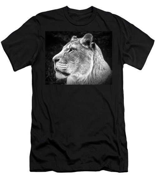 Silver Lioness  Men's T-Shirt (Athletic Fit)