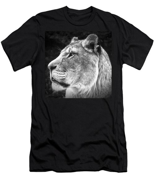 Silver Lioness - Squareformat Men's T-Shirt (Slim Fit) by Chris Boulton
