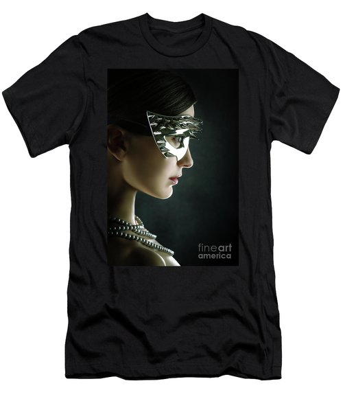 Men's T-Shirt (Athletic Fit) featuring the photograph Silver Spike Beauty Mask by Dimitar Hristov