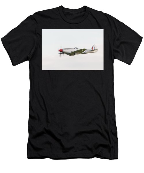 Silver Spitfire Fr Xviiie Men's T-Shirt (Athletic Fit)