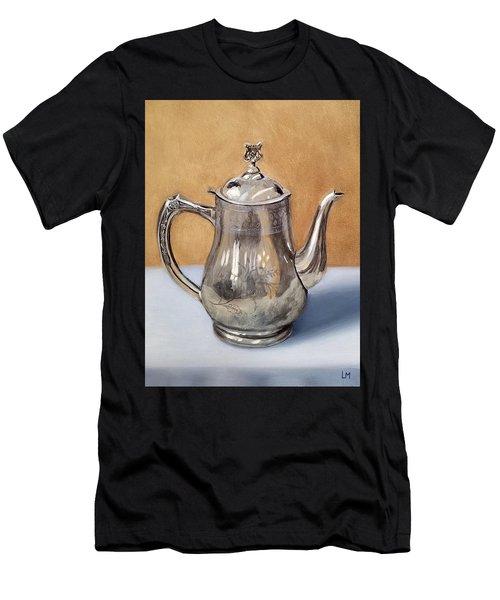 Silver Teapot Men's T-Shirt (Athletic Fit)