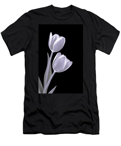 Silver Tulips Men's T-Shirt (Athletic Fit)