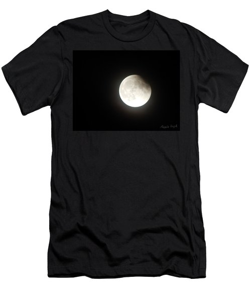 Silver White Eclipse Men's T-Shirt (Athletic Fit)