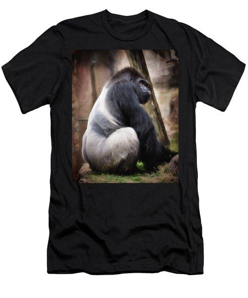Silverback Men's T-Shirt (Slim Fit) by Lana Trussell