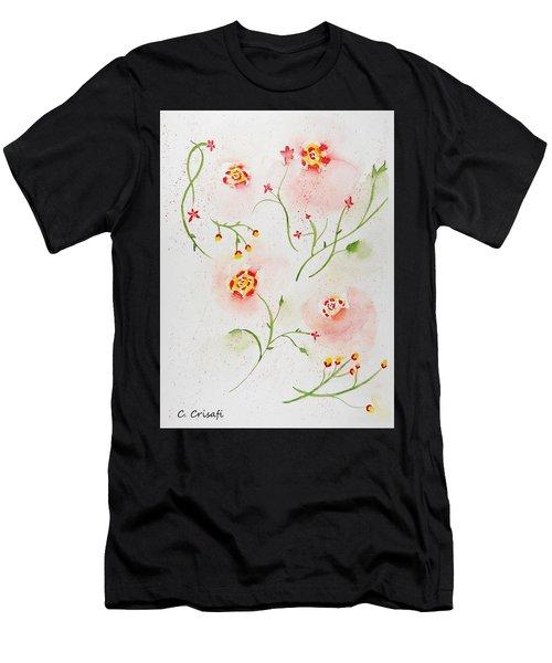 Simple Flowers #2 Men's T-Shirt (Athletic Fit)