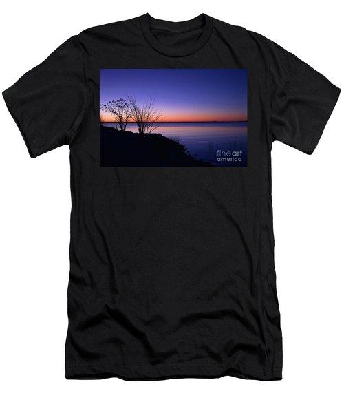 Simply Gentle Blue Men's T-Shirt (Athletic Fit)