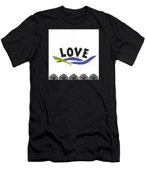 Men's T-Shirt (Slim Fit) featuring the mixed media Simply Love by Gloria Rothrock
