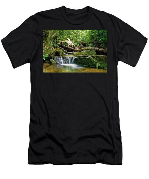 Sims Creek Waterfall Men's T-Shirt (Slim Fit) by Meta Gatschenberger